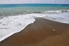 Summer beach. Empty beach in Mediterranean Sea Stock Photography