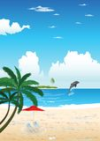 Summer On a Beach Royalty Free Stock Photo