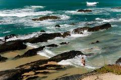 Summer beach. Coastal scenario at summer time Stock Photos