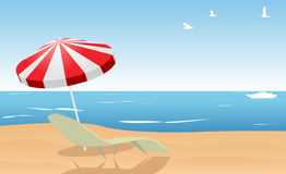 Summer beach. Vector illustration wallpaper Stock Photos