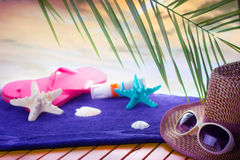 Summer beach abstract stock photography