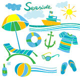 Summer beach accessories Royalty Free Stock Photos