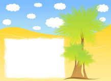 Summer beach background. With banner royalty free illustration