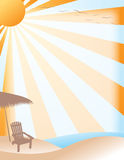Summer Beach Background. A bright and colorful beach background vector illustration