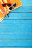 Summer beach background border copy space vertical Royalty Free Stock Photography
