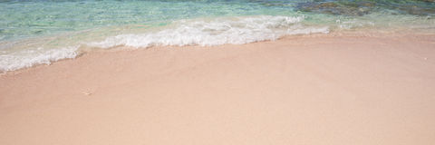 Summer beach background with clean sand Royalty Free Stock Photography