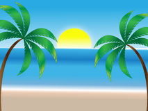 Summer Beach Background Royalty Free Stock Photos