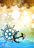 Summer beach background Stock Image