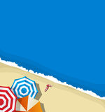 Summer beach background. A summer beach background illustration Stock Photography