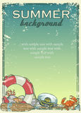 Summer beach background with sample text Stock Images