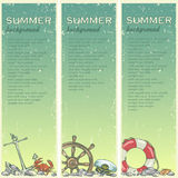 Summer beach background with sample text Royalty Free Stock Image