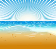 Summer Beach Background. Vector illustration of summer beach with unique decoration Royalty Free Stock Photo