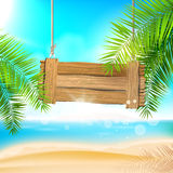 Summer beach background Royalty Free Stock Images