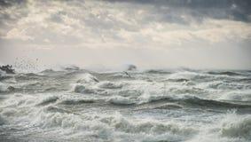 Summer beach on bad weather Stock Photo
