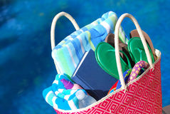Summer Beach Bag Stock Photo