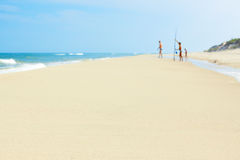summer beach baltic sea shore family Royalty Free Stock Photos