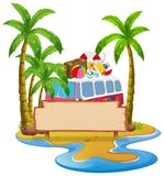A summer beach banner. Illustration royalty free illustration