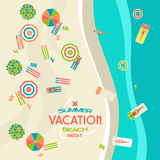 Summer beach banner Stock Photos