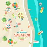 Summer beach banner Stock Photos