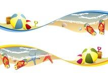 Summer beach banners Royalty Free Stock Photos