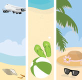 Summer beach banners illustration Stock Images