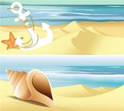 Summer beach banners Royalty Free Stock Image