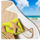 Summer Beach Basket Royalty Free Stock Images