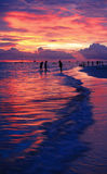 Summer beach with beautiful sunset Royalty Free Stock Images