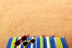 Summer beach border background copy space Stock Photography