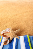Summer background beach border starfish copy space Royalty Free Stock Photo