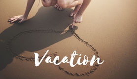 Summer Beach Break Vacation Freedom Memories Words Concept Royalty Free Stock Photos