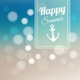 Summer beach card,  blurred background Royalty Free Stock Photos