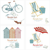 Summer beach card Royalty Free Stock Images