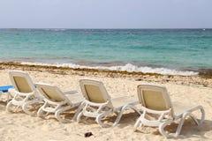 Summer. Beach chairs, chairs on the beach. Beach chairs, chairs on the beach stock images