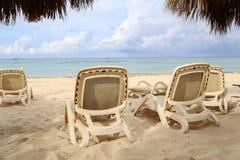 Summer. Beach chairs, chairs on the beach. Beach chairs, chairs on the beach stock photography
