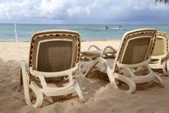 Summer. Beach chairs, chairs on the beach. Beach chairs, chairs on the beach stock photo