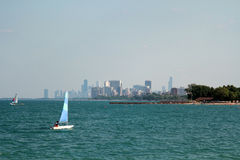 Summer beach in Chicago. Summer beach, downtown Chicago, Illinois Royalty Free Stock Photography