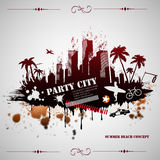 Summer beach concept downtown party city Stock Photography