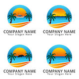 Summer Beach Concept Logo Royalty Free Stock Image
