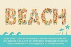 Summer Beach Concept Stock Photography
