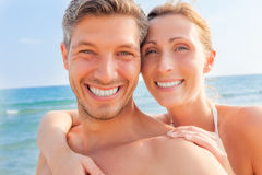 Summer beach couple Stock Image