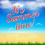 Summer in Beach design Royalty Free Stock Image