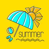 Summer beach design Royalty Free Stock Images