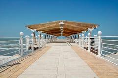 Summer on the beach dock Stock Image