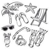 Summer Beach Elements Royalty Free Stock Photo