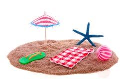 Summer beach equipment Stock Photos