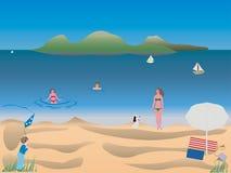 Summer at beach Royalty Free Stock Photo