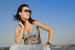 Summer beach fashion Stock Image
