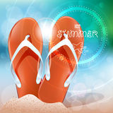 Summer beach Stock Images