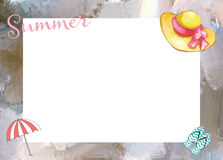 Summer Beach Frame Background Royalty Free Stock Images